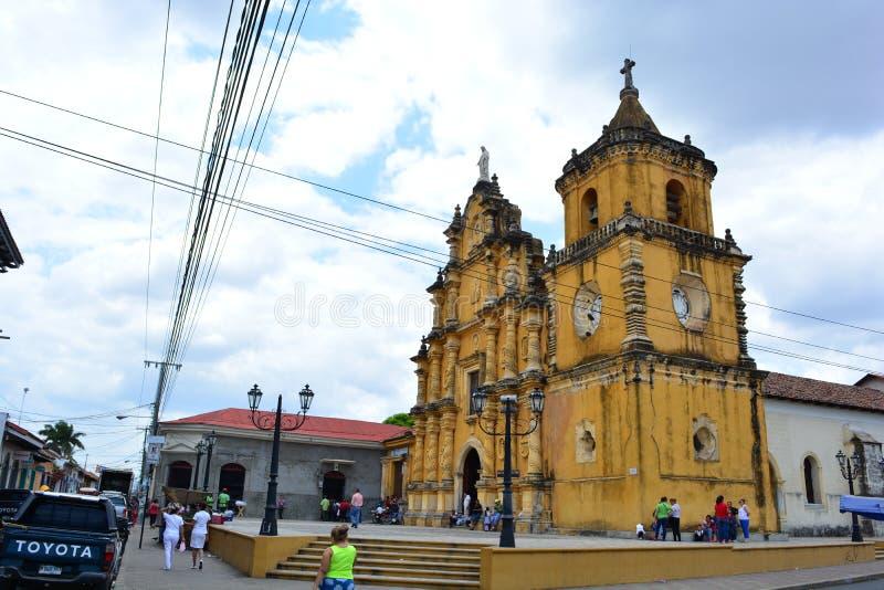 Η εκκλησία Recoleccion στο Leon, Νικαράγουα στοκ εικόνες