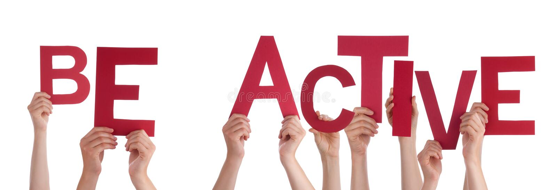 Η εκμετάλλευση το κόκκινο Word χεριών ανθρώπων είναι ενεργός στοκ εικόνες με δικαίωμα ελεύθερης χρήσης