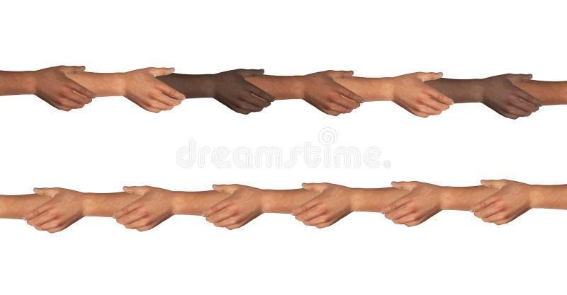 Η εκμετάλλευση χεριών δίνει τη σύνδεση διανυσματική απεικόνιση