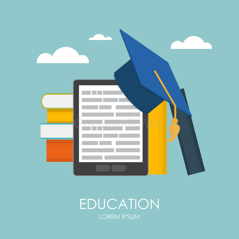 η εκπαίδευση επιχειρησιακής έννοιας απομόνωσε το λευκό Τάσεις και καινοτομία στην εκπαίδευση ελεύθερη απεικόνιση δικαιώματος