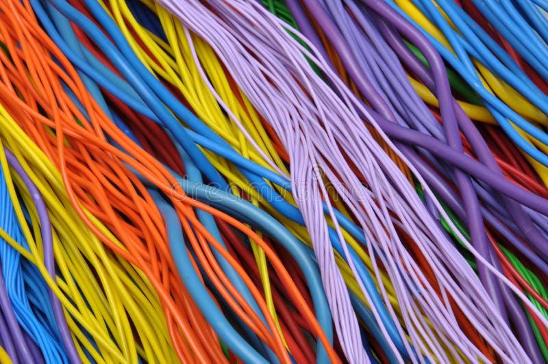 Ηλεκτρικά καλώδια και καλώδια στοκ φωτογραφία με δικαίωμα ελεύθερης χρήσης