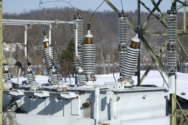 Ηλεκτρική λεπτομέρεια υποσταθμών στοκ εικόνα με δικαίωμα ελεύθερης χρήσης