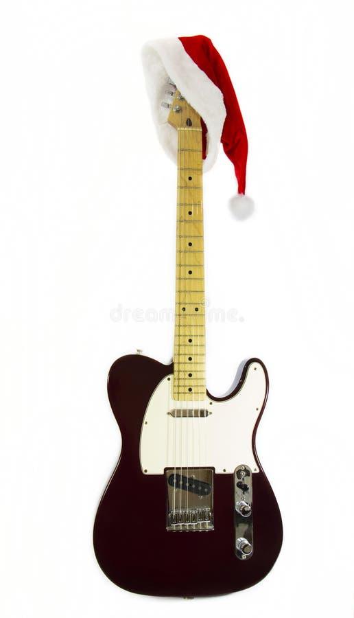 Ηλεκτρική κιθάρα με το αμάξι Noel στοκ φωτογραφία