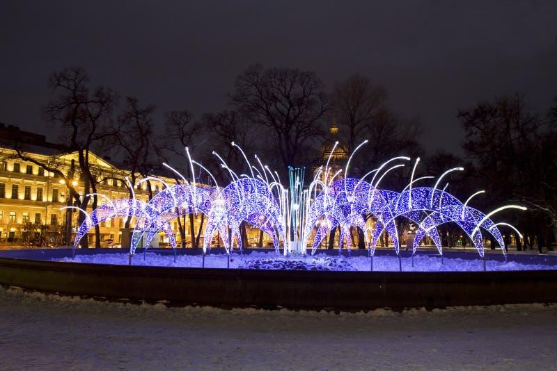 Ηλεκτρική πηγή, Αγία Πετρούπολη στοκ εικόνες