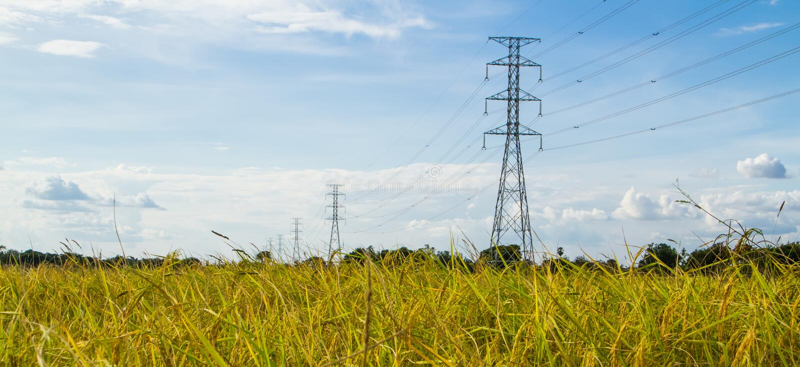 Ηλεκτρικός πύργος μετάδοσης στοκ φωτογραφία