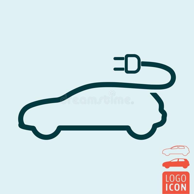 Ηλεκτρικό εικονίδιο αυτοκινήτων διανυσματική απεικόνιση