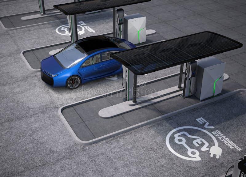 Ηλεκτρικό διάστημα σταθμών χρέωσης οχημάτων δημόσια στοκ εικόνες