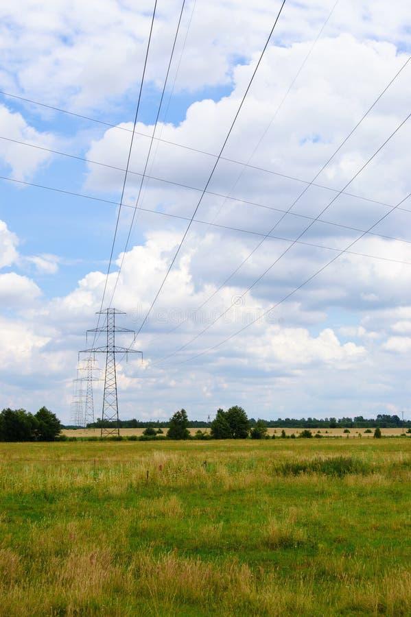 Ηλεκτρικό πεδίο στοκ φωτογραφίες