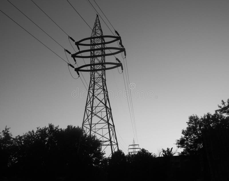 Ηλεκτρικό sihouette πλέγματος στοκ φωτογραφίες με δικαίωμα ελεύθερης χρήσης