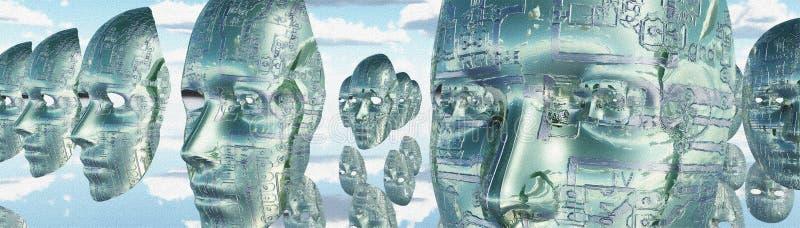 Ηλεκτρονικά πρόσωπα απεικόνιση αποθεμάτων