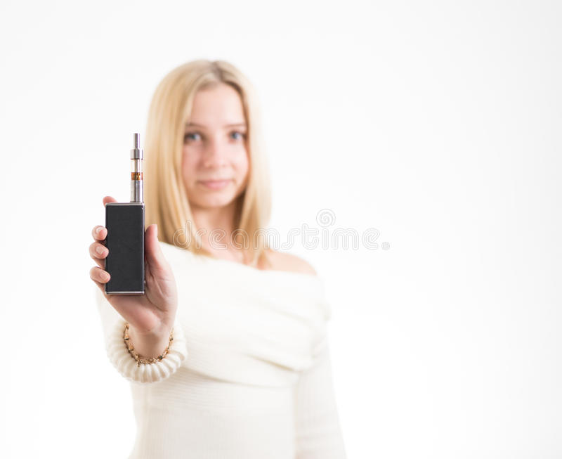 ηλεκτρονική γυναίκα τσι&g στοκ εικόνα με δικαίωμα ελεύθερης χρήσης