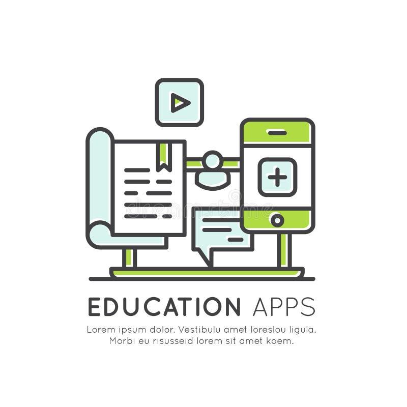 Ηλεκτρονικός σε απευθείας σύνδεση βαθμός βαθμολόγησης εκμάθησης, πληροφορίες απόστασης, υλικό μελέτης, γνώση Διαδικτύου ελεύθερη απεικόνιση δικαιώματος