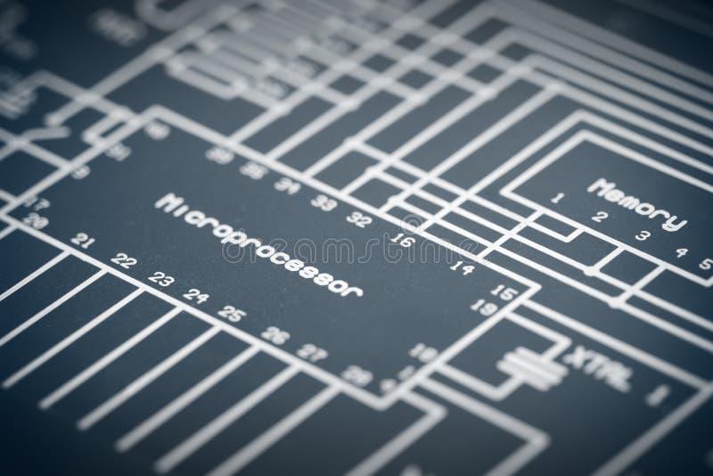 Ηλεκτρονικό διάγραμμα στοκ εικόνα