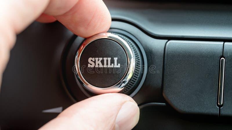 Ηλεκτρονικό κουμπί ελέγχου με τη λέξη - ικανότητα στοκ εικόνες με δικαίωμα ελεύθερης χρήσης