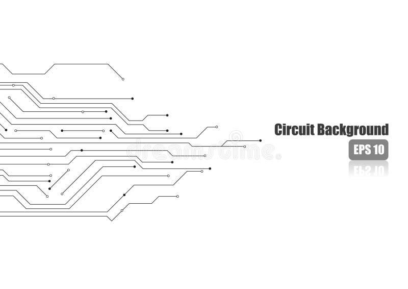 Ηλεκτρονικό κύκλωμα στο άσπρο υπόβαθρο απεικόνιση αποθεμάτων