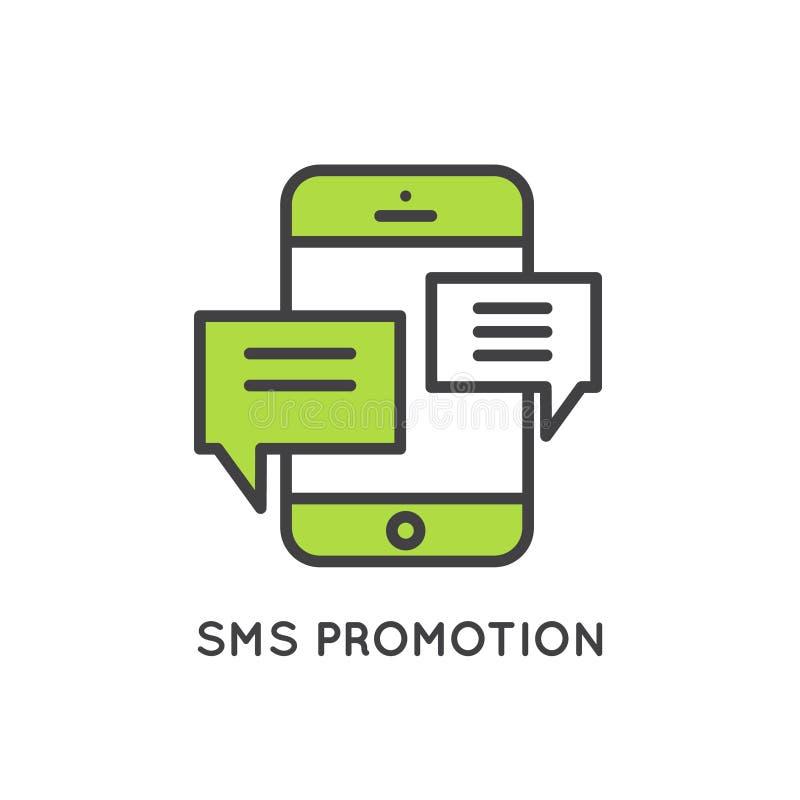 Ηλεκτρονικό ταχυδρομείο Διαδικτύου ή κινητό μάρκετινγκ ανακοινώσεων και προσφοράς και κοινωνική εκστρατεία διανυσματική απεικόνιση