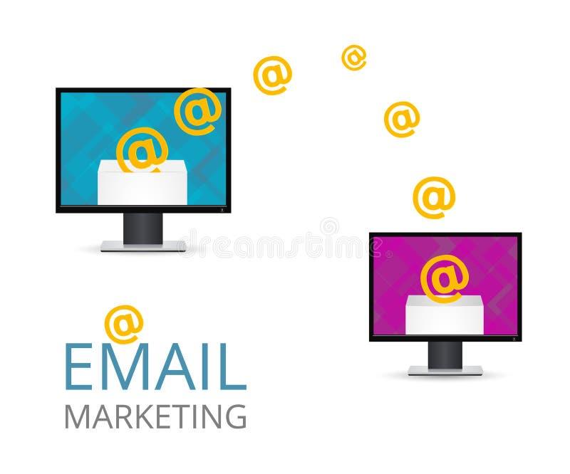 Ηλεκτρονικό ταχυδρομείο που εμπορεύεται τη διανυσματική απεικόνιση ελεύθερη απεικόνιση δικαιώματος