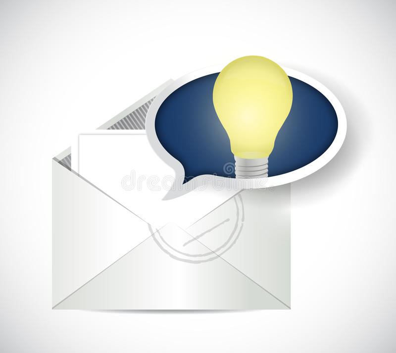 Ηλεκτρονικό ταχυδρομείο φακέλων και απεικόνιση φυσαλίδων μηνυμάτων απεικόνιση αποθεμάτων