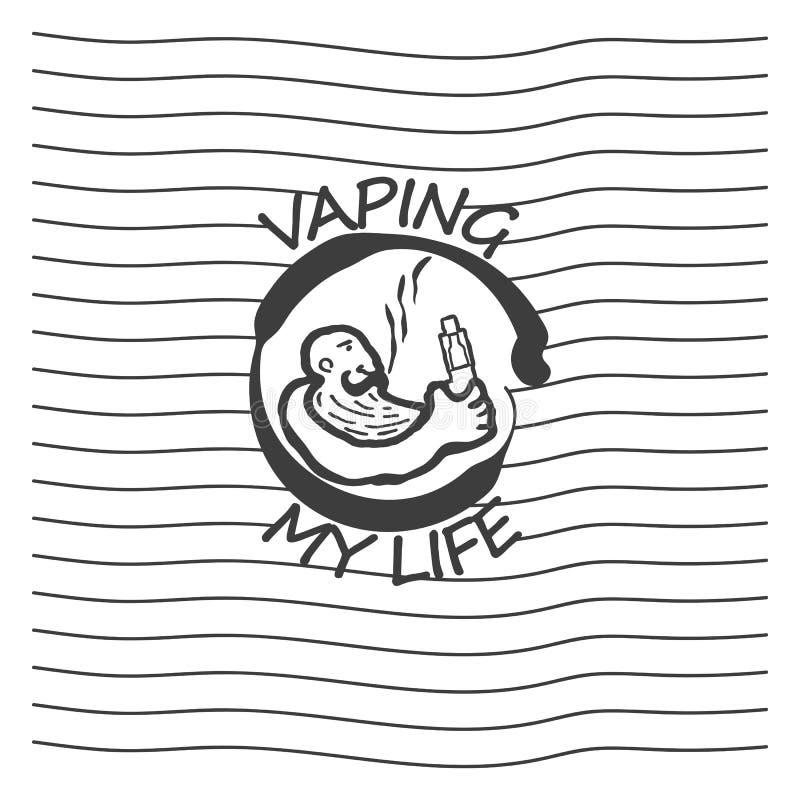 Ηλεκτρονικό τσιγάρο λογότυπων απεικόνιση αποθεμάτων