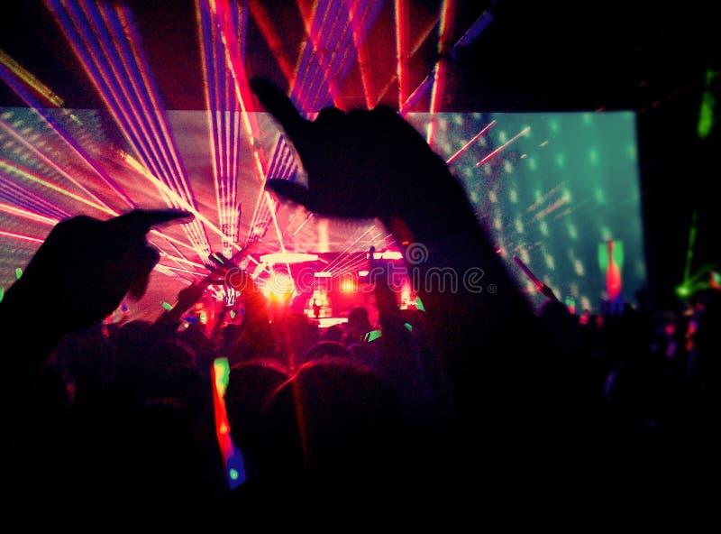 Ηλεκτρο μουσική - συναυλία στοκ εικόνα