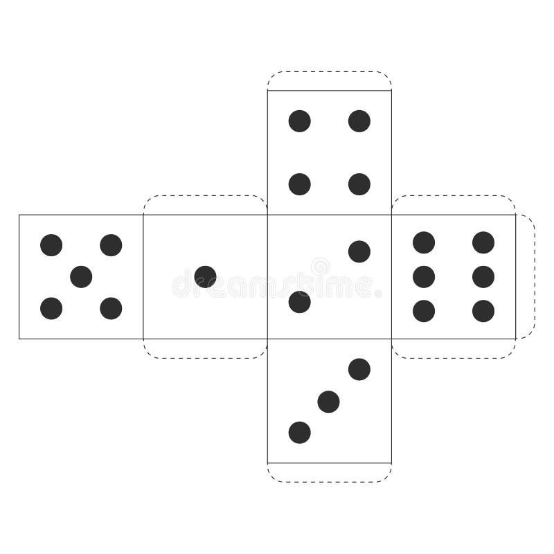 Η εκτυπώσιμη χαρτοπαικτική λέσχη χωρίζει σε τετράγωνα το πρότυπο, διάνυσμα στοκ εικόνα