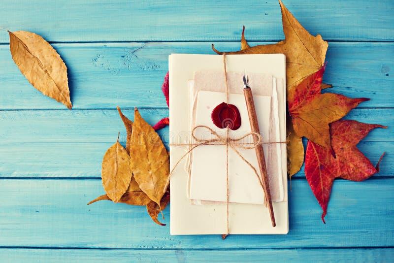 Η εκλεκτής ποιότητας μάνδρα και το φθινόπωρο βγάζουν φύλλα στοκ εικόνες
