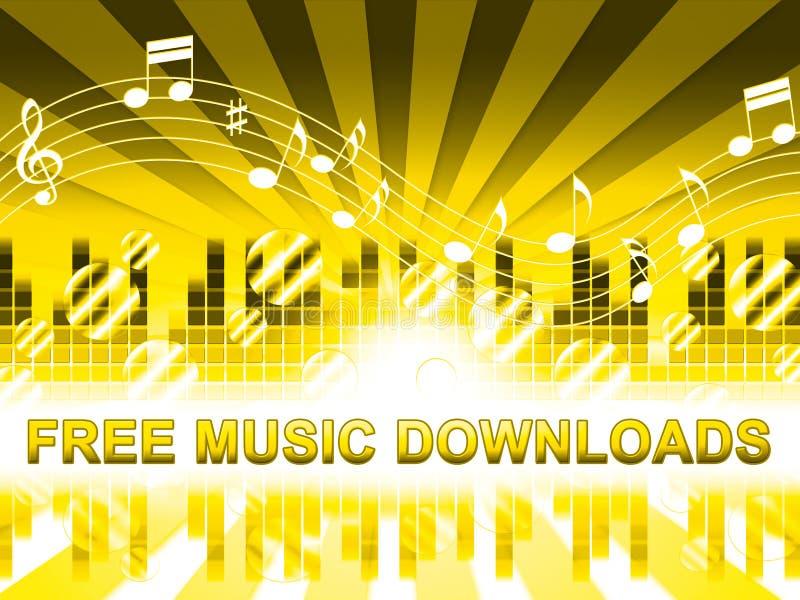 Η ελεύθερη μουσική μεταφορτώνει δεν παρουσιάζει κανένα κόστος Mp3 απεικόνιση αποθεμάτων