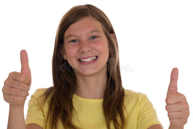 η εμφάνιση κοριτσιών φυλλομετρεί επάνω τις νεολαίες στοκ εικόνα
