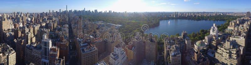 Η εναέρια πανοραμική Νέα Υόρκη του Central Park εικόνας στοκ εικόνα με δικαίωμα ελεύθερης χρήσης