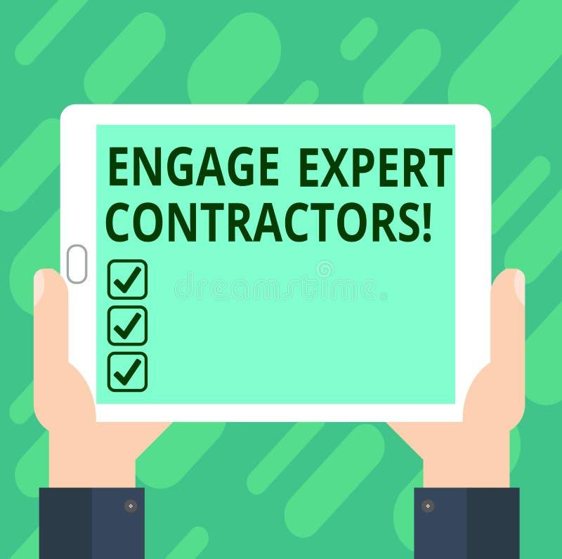 Η εννοιολογική παρουσίαση γραψίματος χεριών δεσμεύει τους ειδικούς αναδόχους Τα ειδικευμένα outworkers μίσθωσης κειμένων επιχειρη απεικόνιση αποθεμάτων