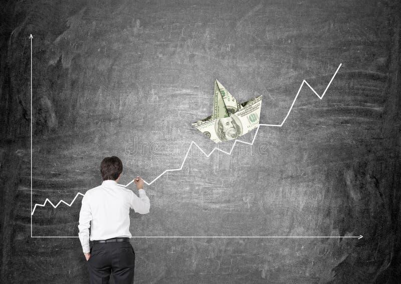 η εννοιολογική οικονομική εικόνα ανάπτυξης απομόνωσε το λευκό στοκ εικόνα