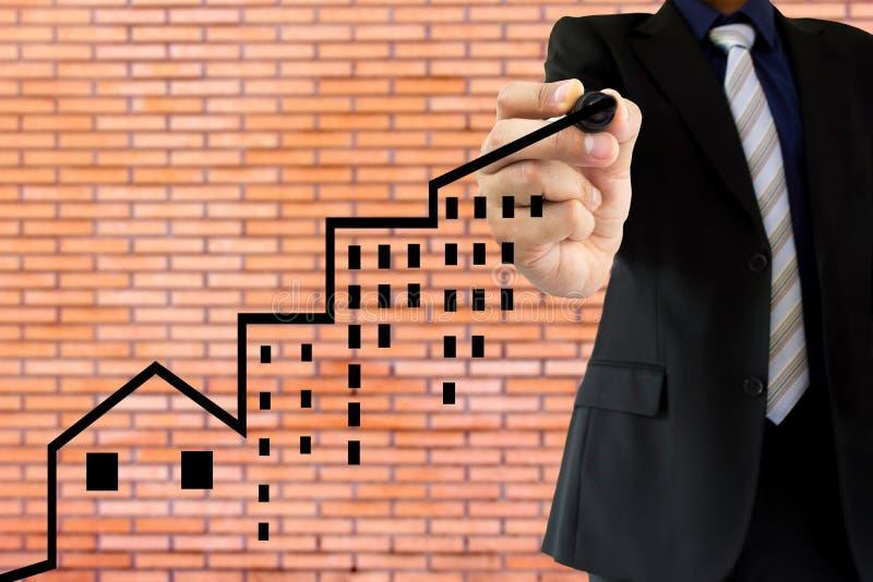 Η επένδυση ακίνητων περιουσιών είναι θετική στοκ εικόνες με δικαίωμα ελεύθερης χρήσης