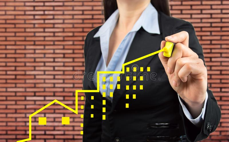 Η επένδυση ακίνητων περιουσιών είναι θετική στοκ φωτογραφίες με δικαίωμα ελεύθερης χρήσης