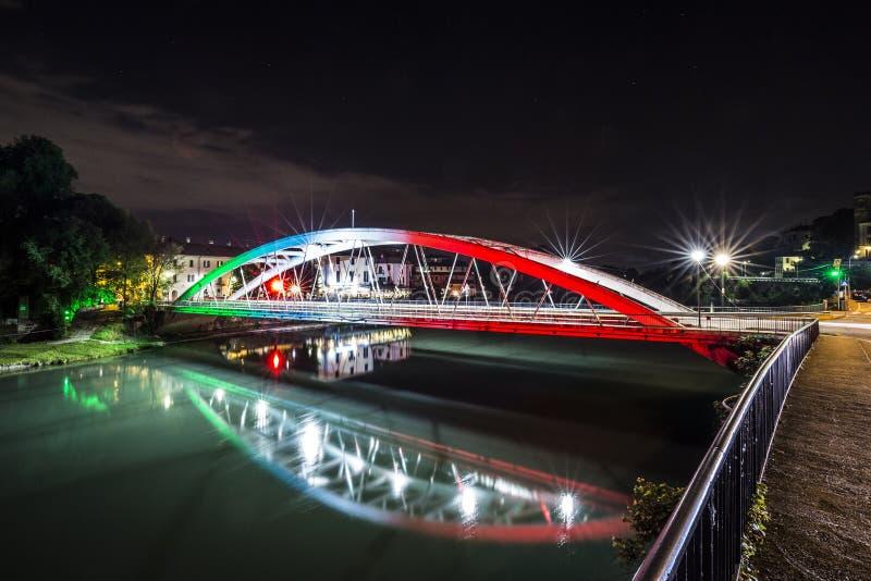 60η επέτειος της γέφυρας πέρα από τον ποταμό Adda στοκ εικόνες