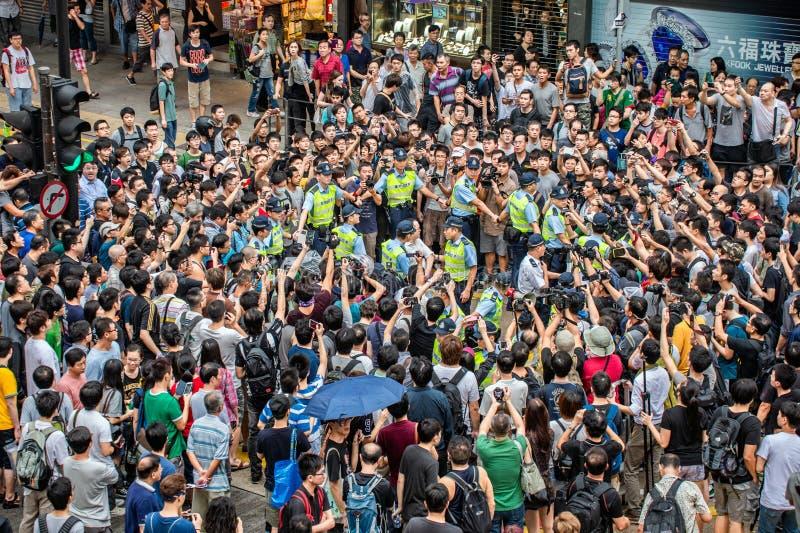 Η επανάσταση ομπρελών, Χονγκ Κονγκ διαμαρτύρεται το 2014 στοκ φωτογραφίες