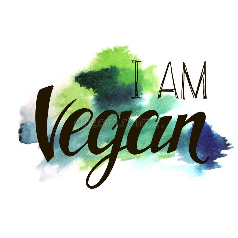 Η επιγραφή είμαι vegan διανυσματική απεικόνιση