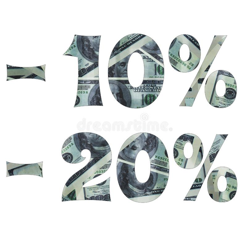 Η επιγραφή του ενδιαφέροντος για την πώληση με την εικόνα των δολαρίων μέσα στοκ φωτογραφία με δικαίωμα ελεύθερης χρήσης