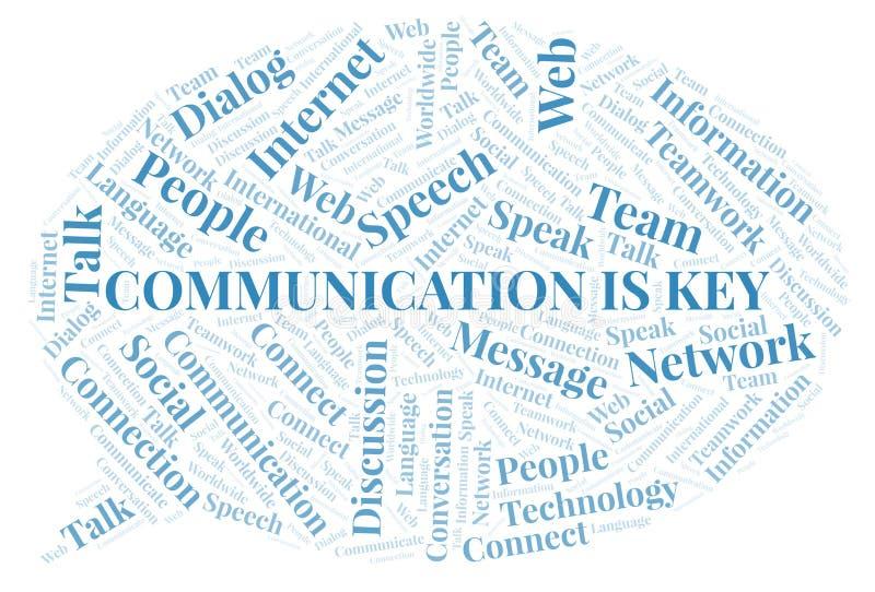 Η επικοινωνία είναι σύννεφο λέξης κλειδί ελεύθερη απεικόνιση δικαιώματος