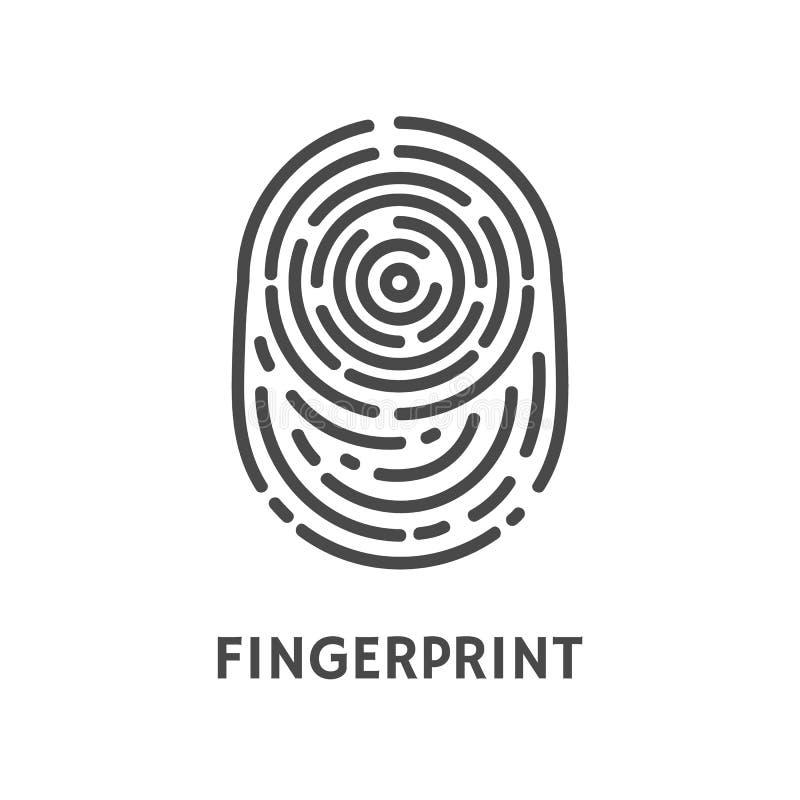 Η επικύρωση δακτυλικών αποτυπωμάτων ελέγχει το διάνυσμα αφισών διανυσματική απεικόνιση