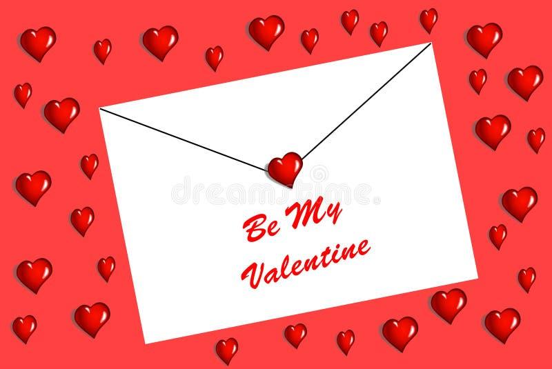 Η επιστολή βαλεντίνων ` s για κάποιο εσείς αγαπά ελεύθερη απεικόνιση δικαιώματος
