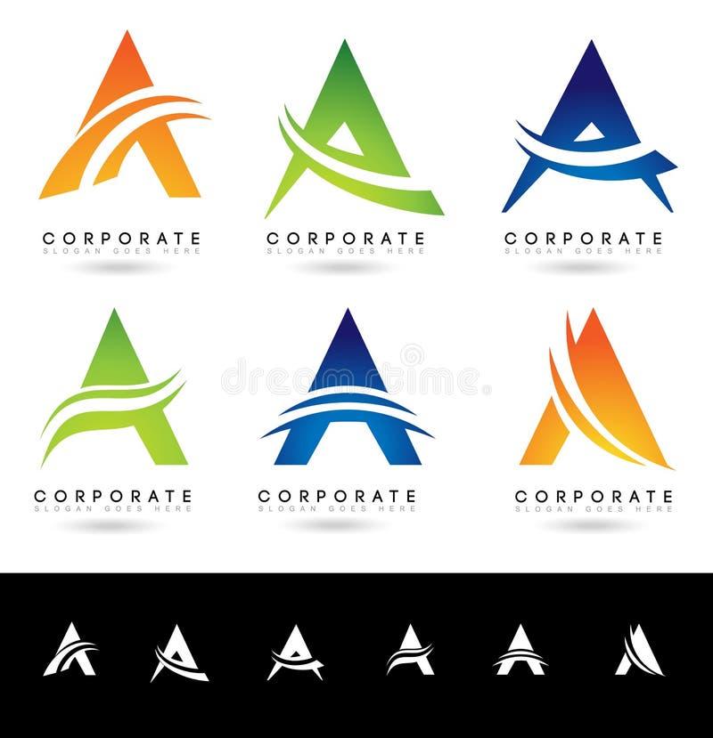 Η επιστολή ένα λογότυπο σχεδιάζει διανυσματική απεικόνιση