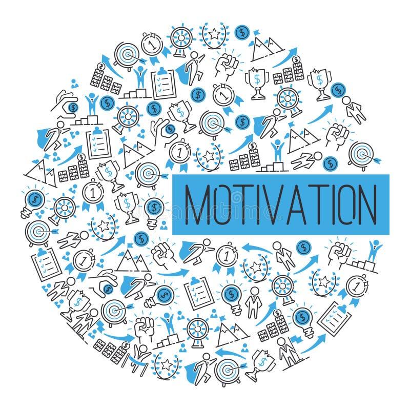 Η επιτυχία κινήτρου παρακινεί τη διανυσματική απεικόνιση σχεδίων έννοιας Δημιουργική ισχυρή δύναμη έμπνευσης ιδέας Μεταφορά διανυσματική απεικόνιση