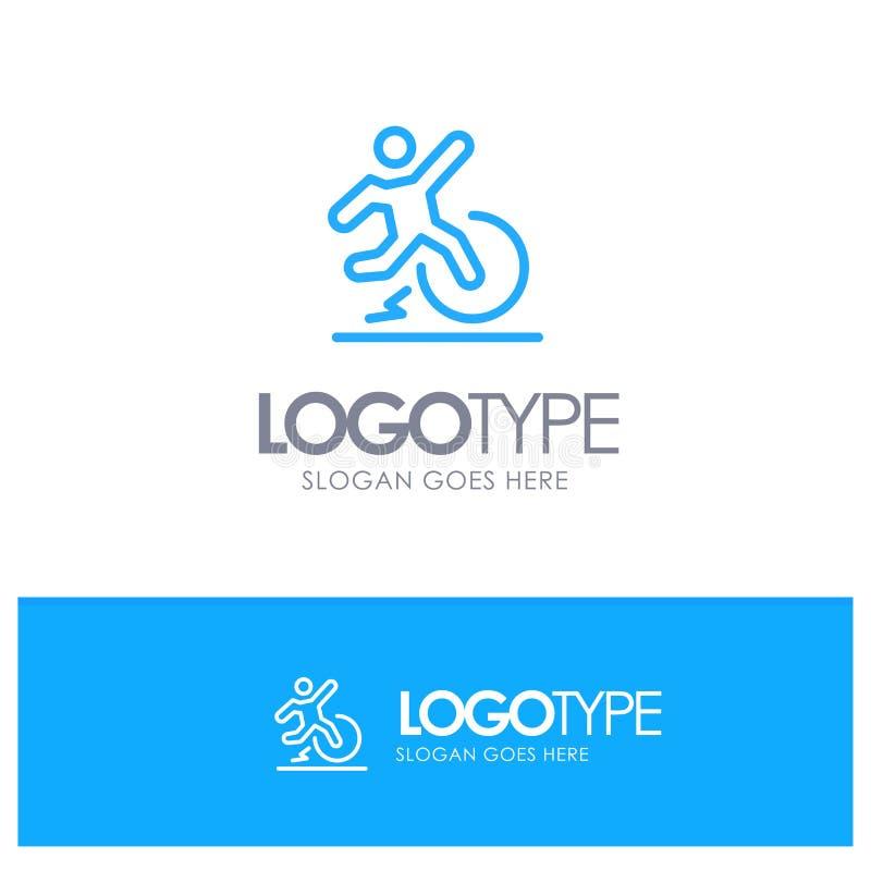 Η επιχείρηση, αλλαγή, άνεση, διαφυγή, αφήνει το μπλε λογότυπο περιλήψεων με τη θέση για το tagline ελεύθερη απεικόνιση δικαιώματος