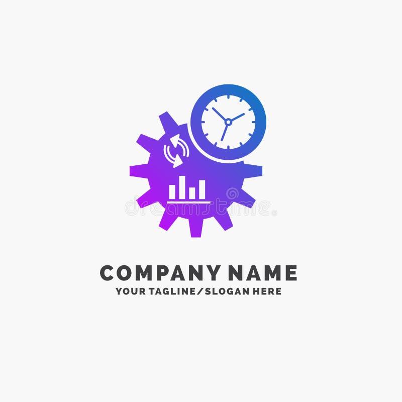 Η επιχείρηση, εφαρμοσμένη μηχανική, διαχείριση, επεξεργάζεται το πορφυρό πρότυπο επιχειρησιακών λογότυπων r διανυσματική απεικόνιση