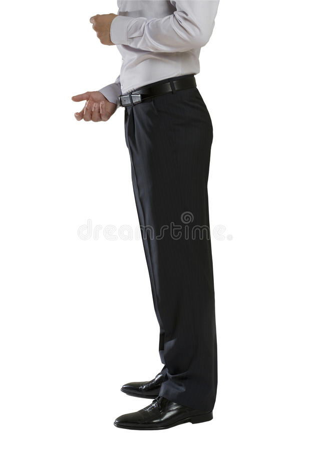 η επιχείρηση ντύνει το άτομ&om στοκ εικόνα με δικαίωμα ελεύθερης χρήσης