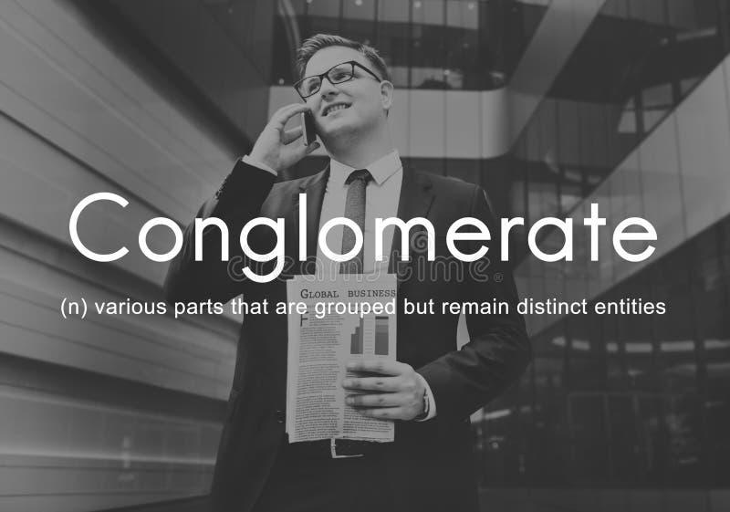 Η επιχείρηση συμμαχίας συγκροτημάτων επιχειρήσεων συνεργάζεται έννοια ομάδας στοκ εικόνες