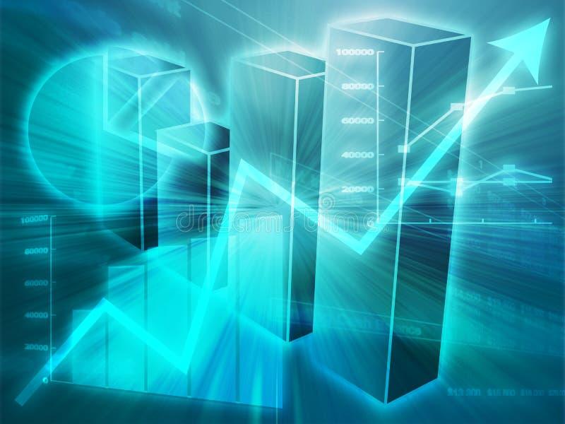 η επιχείρηση σχεδιάζει τον υπολογισμό με λογιστικό φύλλο (spreadsheet) απεικόνισης διανυσματική απεικόνιση