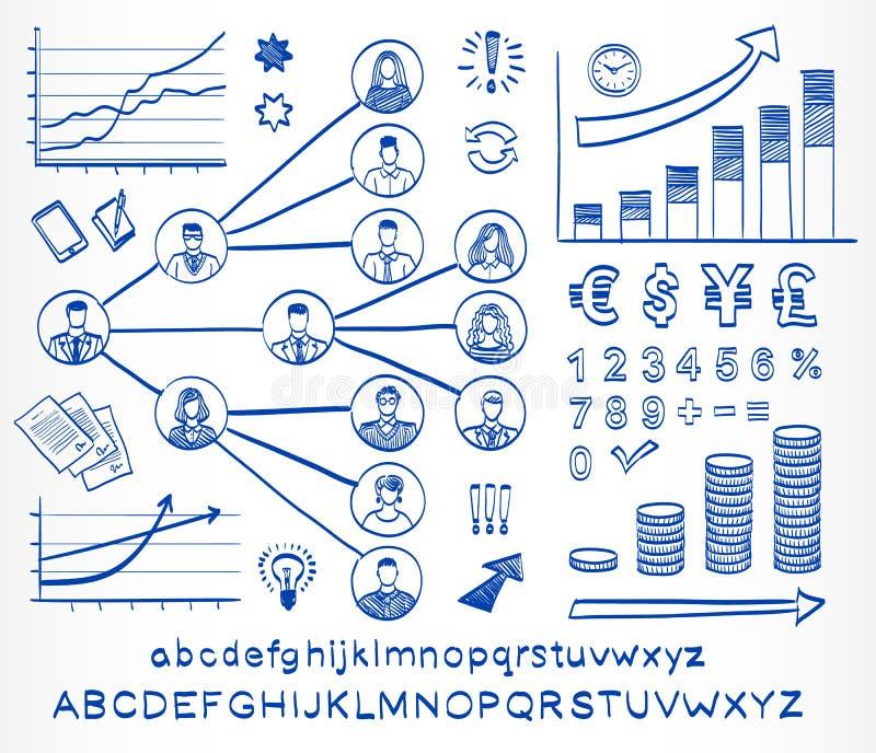 Η επιχείρηση doodle έθεσε διανυσματική απεικόνιση