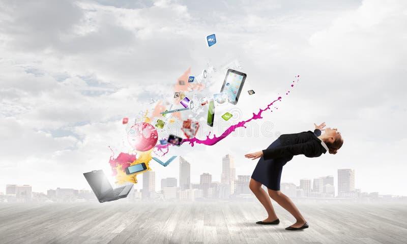Η επιχειρηματίας αποφεύγει τις ιδέες παφλασμών στοκ φωτογραφίες με δικαίωμα ελεύθερης χρήσης