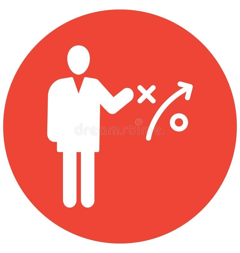 Η επιχειρησιακή στρατηγική, απομονωμένο επιχειρηματίας διανυσματικό εικονίδιο μπορεί να είναι εκδίδει εύκολα και τροποποιεί διανυσματική απεικόνιση